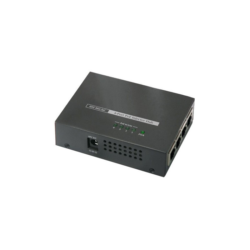 4port PoE Midspan injector 30W