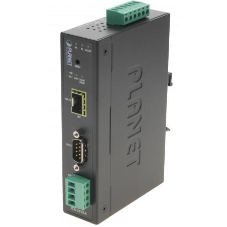 1 port serielportserver via fibernetværk RS232/422/485, SFP modul