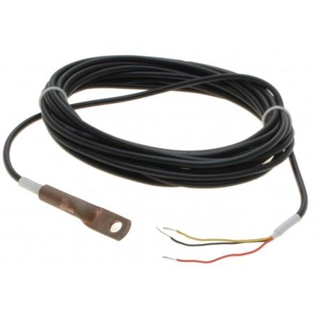 Temperaturføler føler til montering, måleområde: -10 til + 85° C, Dallas DS18B20 Chip, 10m kabel