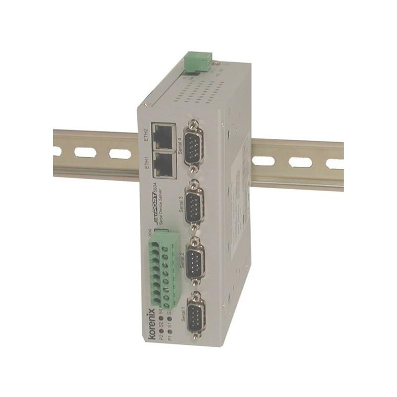 4 ports serielportserver, RS422/485 isoleret. Serial Device Server