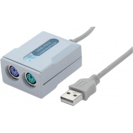 PS/2 mus/tastatur til USB konverter, anbefales af vores teknikker ! Virker stort set med alt !