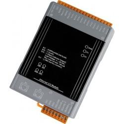 IO med 6 ingångar och 6 reläer . med 2 - port Ethernet-switch