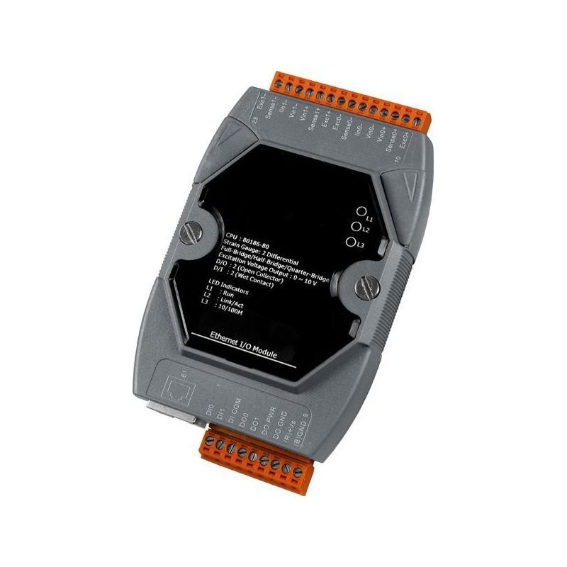 6 x analog ind- og 2 udgange, 2 digitale ind- og 2 udgange, LAN, 10-30VDC