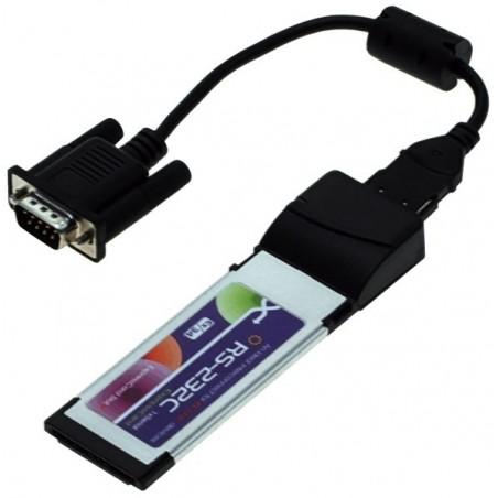 ExpressCard/34 med 2 x RS 232 seriel porte