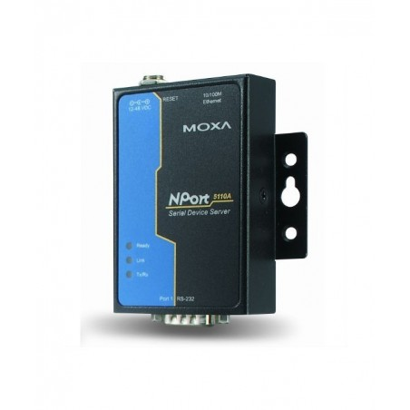 1 port serielportserver RS232, MOXA Nport 5110A. Serial Device Server