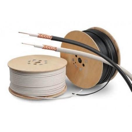 Løst RG58 Ethernet kabel på rulle, sort