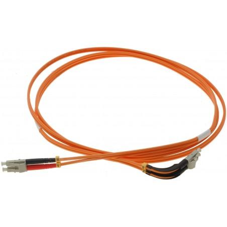 Multimode LC fiber patchkabel, vinklet 90°, 62,5-125my, 2 meter