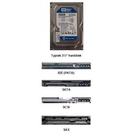 """Harddiske 1,8"""" 2½"""" og 3½"""" IDE, SATA, MFM, SCSI alle typer, mærker samt kapacitet skaffes"""