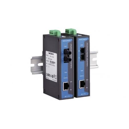 fiberkonverter RJ45 til 100Mbit SM Single Mode Fiber, SC MOXA IMC-21-S-SC