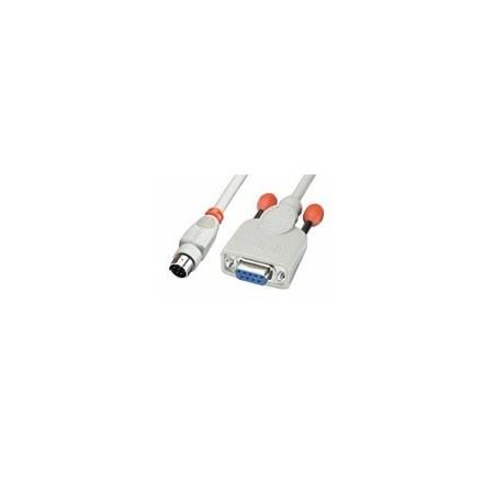 SUB-D RS232 seriel data kabel DB9 hun til 8 pin mini DIN han