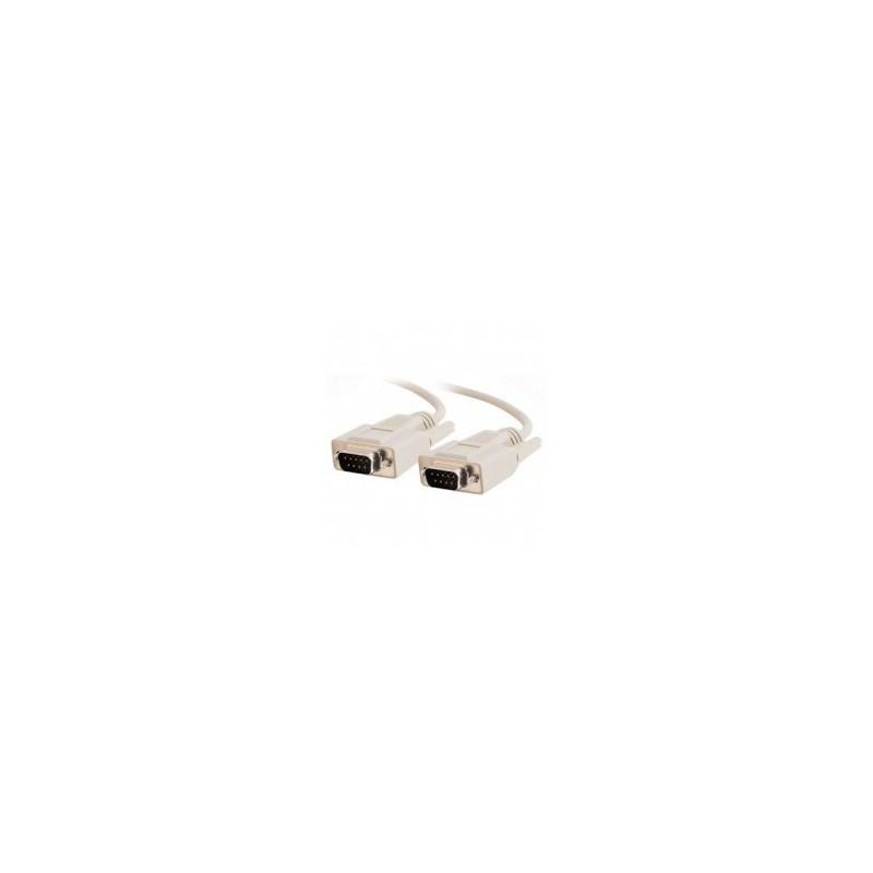 SUB-D RS232 seriel kabel, DB9 han - DB9 han, AWG28, grå, 1,8m