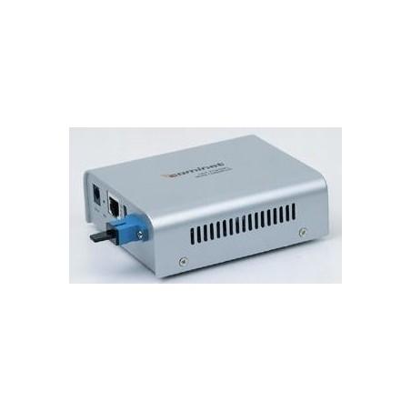 RJ45-SC konverter.100Mbit rækker op til 60Km.Singlemode