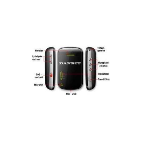 Restsalg: GPS Tracker u. simkort, 650MAH