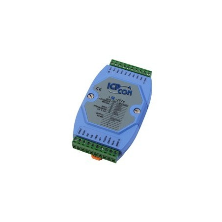 1 x analog ind for Strain Gauge, 1 x analog ud, 4 x didital ud, RS485 bus