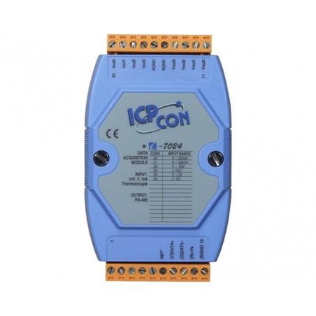 4 x analoge udgange, +/-10 volt, 0-20mA, 12bit, RS485 bus