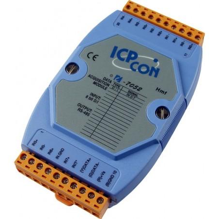 8 optoisolerede digitale indgange ICP DAS I-7052 CR