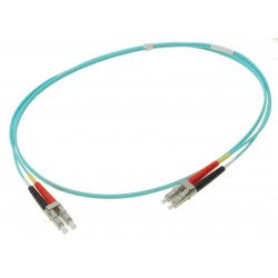 Fiber optisk kabel- multimode LC-LC, 50-125µm, duplex, OM3, 1 meter