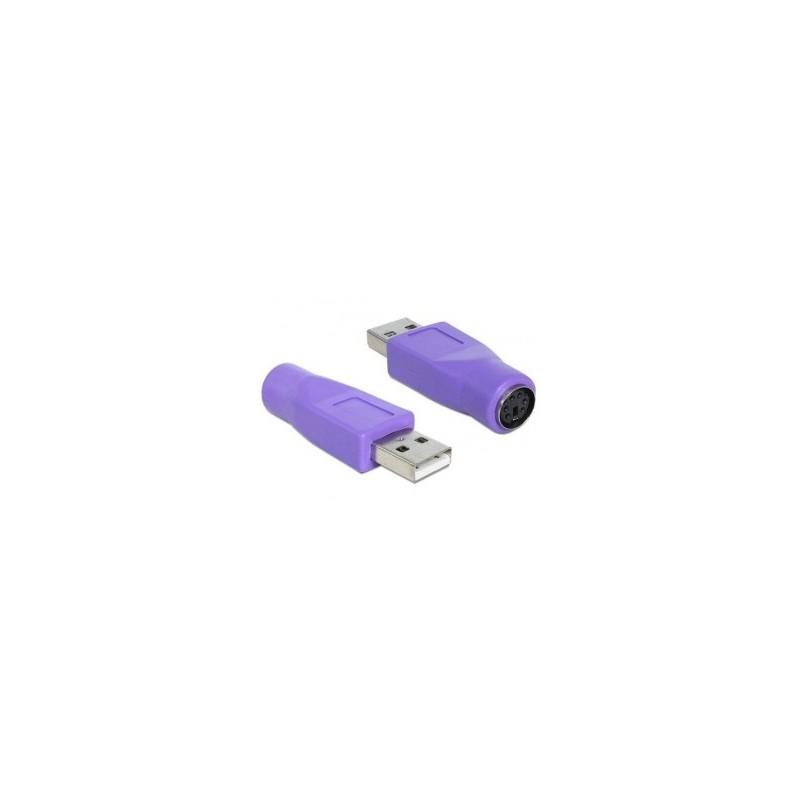 Omformerstik mellem PS/2 og USB. Adapter til mus/tastatur som emulerer både PS/2 til USB port