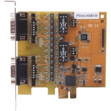 PCI Express kort med 2 x RS232 / 422 /485 optisk isolation og surge protection
