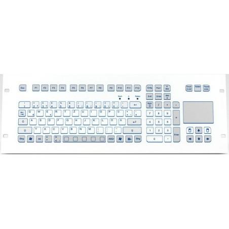 PS/2 Industri tastatur IP65 med touchpad til panelmontering. Nordisk layout