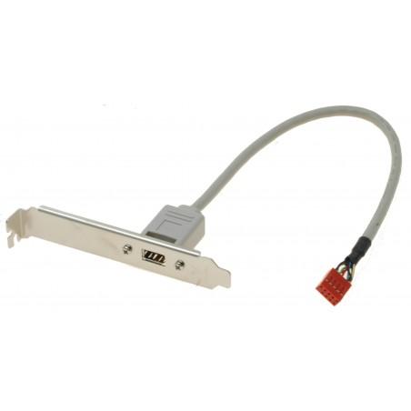 Restsalg: Bagplade med 1 Firewire stik. Inkl. kabel