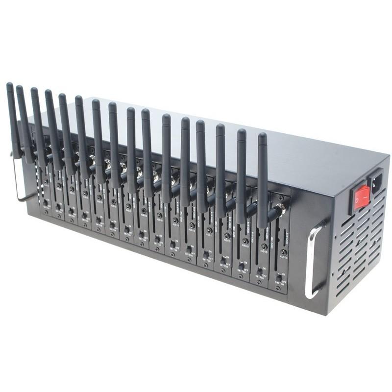 16 stk.GSM modem-pool med 1 x USB, inkl. strømforsyning