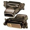 HDMI til DVI omformerstik. Overfører 1 digitalt signal:
