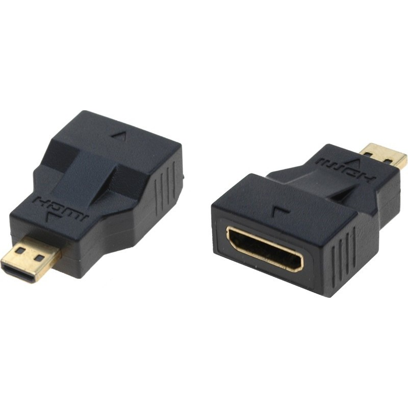 Gender changer HDMI mini C hun – micro D han adapter