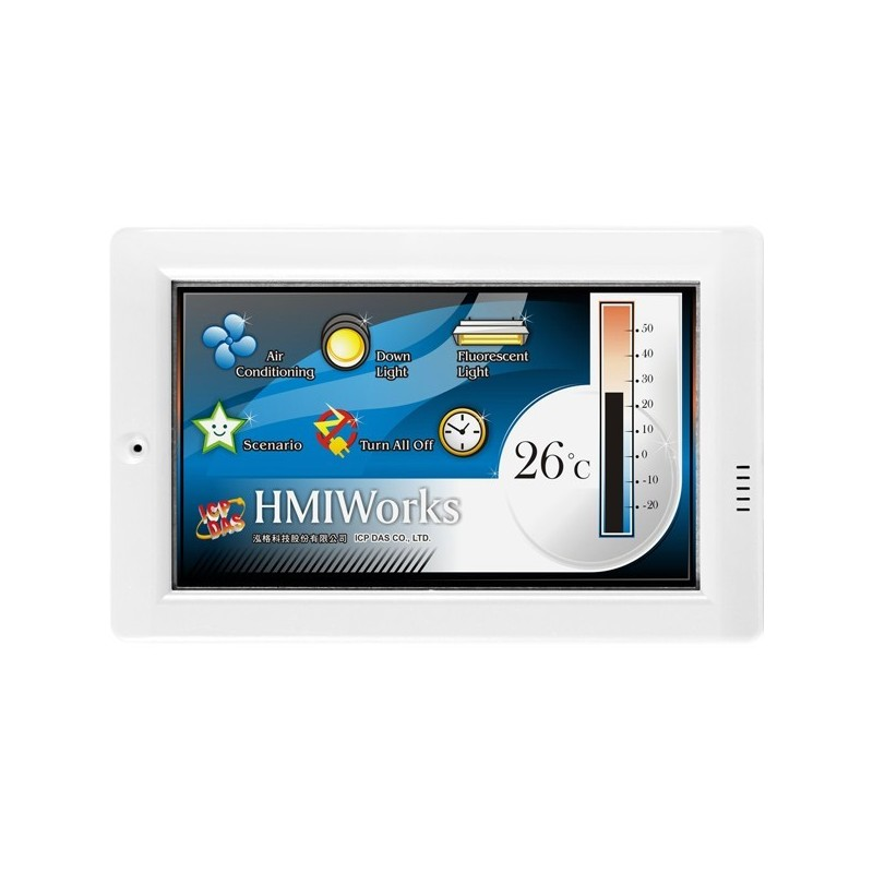 "Mini PLC Panel, 4.3"" LCD touch skærm, MODBUS, C, ladder, RS485"