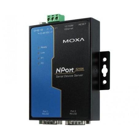 2 ports serieportserver RS232, MOXA NPort 5210A. Seriel Device Server