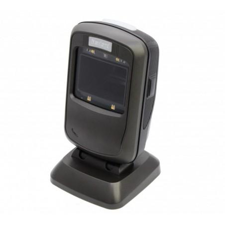 1D og 2D stregkodelæser, USB HID eller COM-port, stationær med fod, automatisk emne-detektering