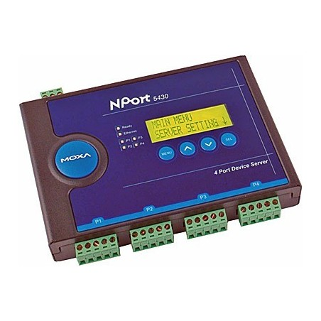 4 ports serielportserver RS422/485, MOXA Nport 5430. Serial Device Server