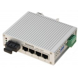 5 ports switch 4 x 10/100 RJ45 + 1 x SC Multi Mode - Unmanaged, 18-32VDC, 18-27VAC