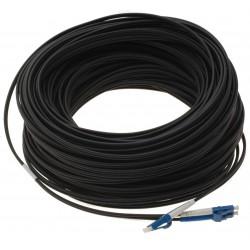 Fiberoptisk kabel med fleksibel armering af rustfrit stål - singlemode LC, 25 meter