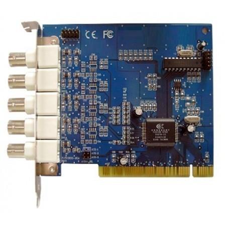 PCI-kort med kameraindgange og mange avancerede funktioner, 4 kanals analog videoovervågning til pc