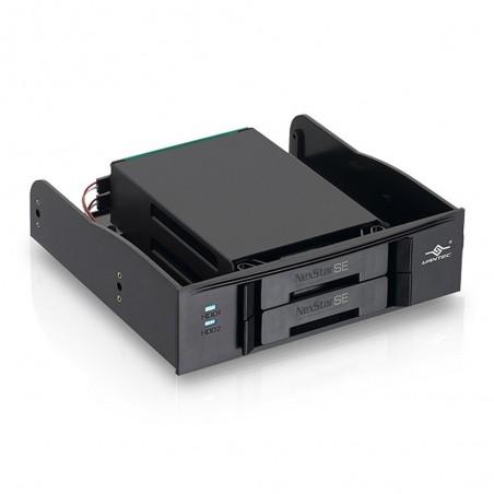 """Intern 5¼"""" skuffe til 2 x 2½"""" SATA SSD/HDD"""