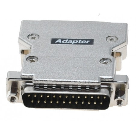 SCSI adapter, SCSI DB25M til 50 pins mini Centronic han