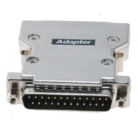 SCSI adapter, SCSI DB25M til 50 pins mini Centronic han