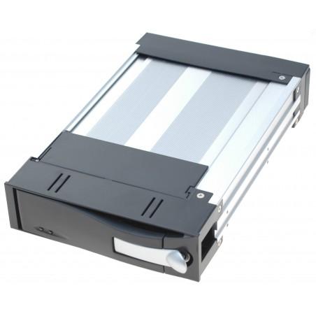 "3½"" skuffe til 2½"" HDD SSD inkl. ramme, sort front"