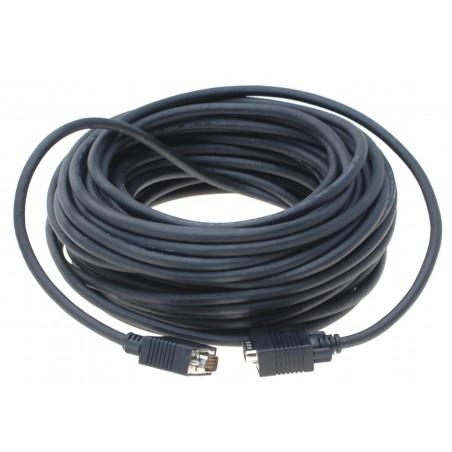 VGA kabel DB15 HD han / han, Ben 9 er ikke føre igennem, sort, 15 meter
