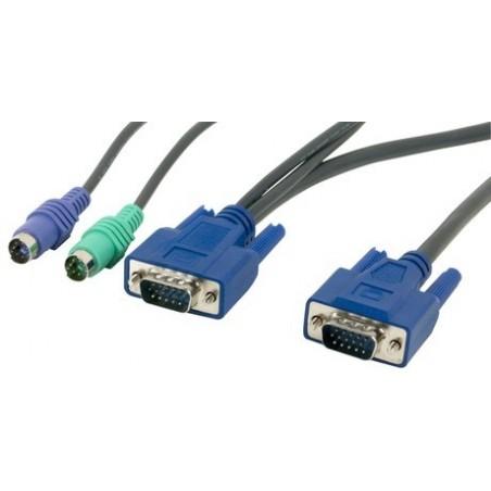 KVM Combi Cable PS/2+VGA to DB15HD, 6m (CBM600H)