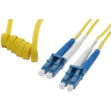 Singlemode LC Easy Bend fiberkabel 9 µm, duplex, OS1, LSZH, LC, 20 meter