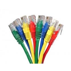 Netværkskabler i længder 1 til 100 meter i forskellige farver