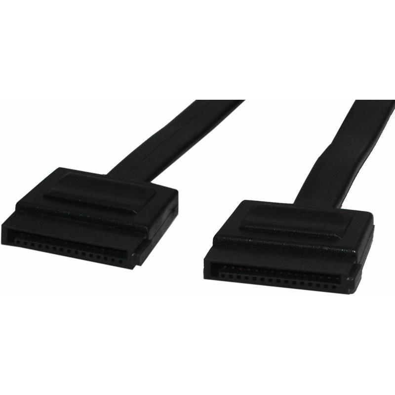 SATA stillrömkabel för användning mellan ryggplatilltillan och den externa enhetillen
