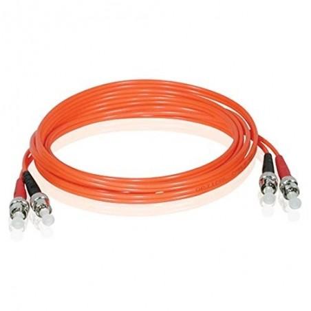 Multimode ST fiber patchkabel, 62,5-125 μm, 15m