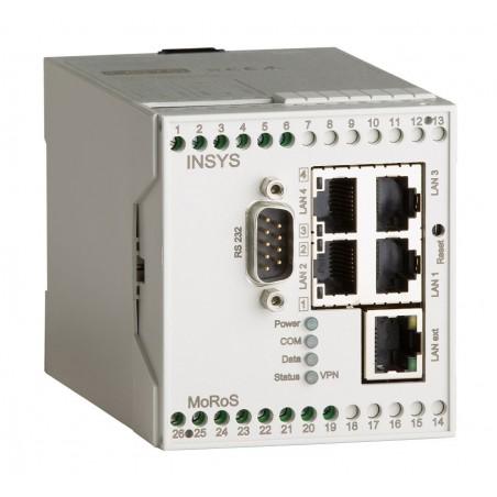 INSYS Linux router med RS232 port og digitale ind- og udgange