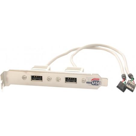 Bagplade med 2 USB2 stik