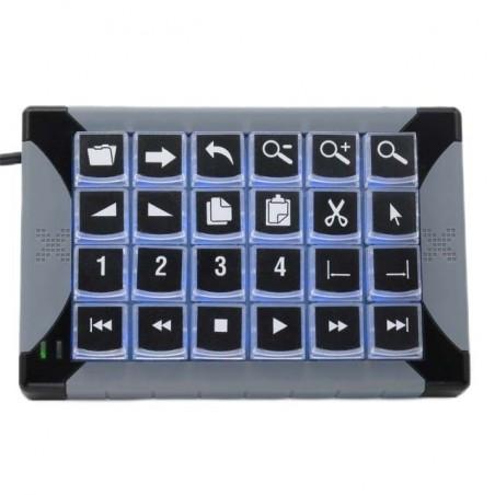 24 key programmerbar tastatur til KVM styring, USB, baggrundslys