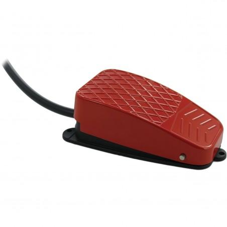 Industriel vippefodpedal til USB-kontakt-bokse. Ledning med 3,5mm Jack stik. Rød. Tilbehør