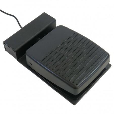 Industriel / robust fodpedal til USB-kontakt-bokse. Kabel med 3,5mm Jack stik. sort. Tilbehør
